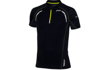 Asics Men's SS 1/2 Zip Top performance black/safety yellow